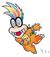 Super Mario World: Artwork of Iggy Koopa, with his trademark glasses