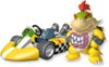 Artwork of Bowser Jr. with his standard kart from Mario Kart Wii