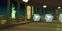New York Minute 3 scene from the official website of Mario Kart Tour