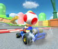 The icon of the Toad Cup's challenge from Mario Kart Tour.