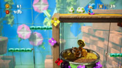 Monty-Mole-B-Gone stage from Yoshi's Crafted World