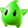 Super Mario Galaxy promotional artwork: A Green Luma