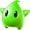 Super Mario Galaxy promotional artwork: A Green Luma