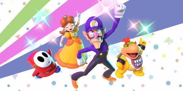 Banner for a Play Nintendo opinion poll on which Super Mario Party character would be the life of the party. Original filename: <tt>2x1-SMP_poll_1.0290fa98.jpg</tt>
