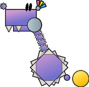Sprite of a Jawbus from Super Paper Mario.