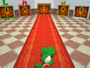 Yoshi in the room with selectable characters.