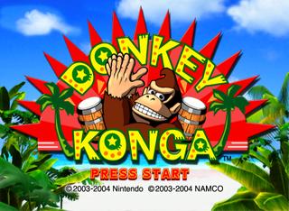 European title screen for Donkey Konga