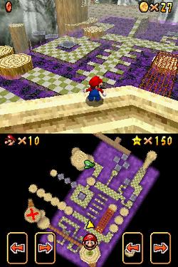 Goomboss Battle level seen in Super Mario 64 DS