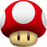 Artwork of a Mushroom from New Super Mario Bros., also reused for the Mushroom in Mario Kart Wii