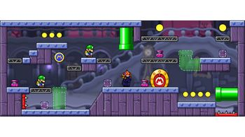Miiverse screenshot of the 10th official level in the online community of Mario vs. Donkey Kong: Tipping Stars