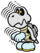A Dry Bones 5-Stack from Paper Mario: Color Splash.