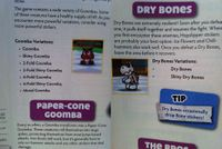 The Paper Mario Sticker Star guide's mention of enemies not in game
