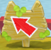 An Arrow Sign with cat ears in Super Mario 3D World + Bowser's Fury