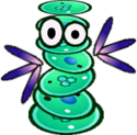 Sprite of a Cursya from Super Paper Mario.