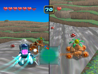 Battle competition in Super Duel Mode in Mario Party 5