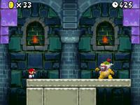 Mario battles Bowser Jr..