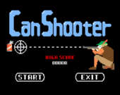 The title screen of Can Shooter.