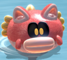 A Cat Splounder in Bowser's Fury