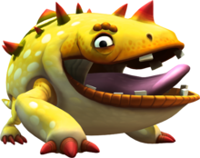 Artwork of Mugly from Donkey Kong Country Returns