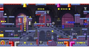 Miiverse screenshot of the 99th official level in the online community of Mario vs. Donkey Kong: Tipping Stars