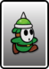 A Green Spike Guy card from Paper Mario: Color Splash