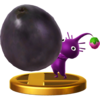 Purple Pikmin trophy from Super Smash Bros. for Wii U