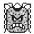 Thwomp icon in Super Mario Maker 2 (Super Mario Bros. 3 style)
