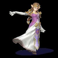 Artwork of Princess Zelda in Super Smash Bros. for Nintendo 3DS / Wii U.