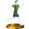 Wii Fit Trainer trophy from Super Smash Bros. for Wii U