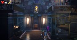 The Library of the Master Suite in Luigi's Mansion 3