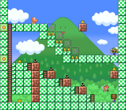 Level 3-3 map in the game Mario & Wario.