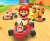 The icon of the Ice Mario Cup challenge from the 2020 Yoshi Tour and the Roy Cup challenge from the Summer Tour in Mario Kart Tour.