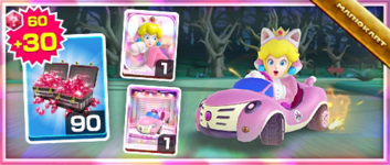 The Cat Peach Pack from the September 2021 Sydney Tour in Mario Kart Tour