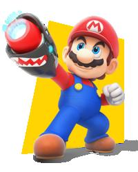 Artwork of Mario in Mario + Rabbids Kingdom Battle.