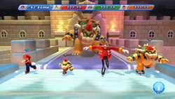 Tail Bowser in Mario & Sonic at the Sochi 2014 Olympic Winter Games.