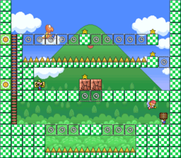 Level 3-2 map in the game Mario & Wario.