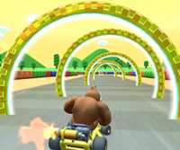 The icon of the Donkey Kong Cup's challenge from the New York Tour in Mario Kart Tour.