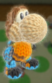 Mii Gunner amiibo Yoshi from Yoshi's Woolly World