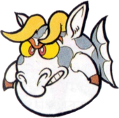 Artwork of a Mōgyo, from Super Mario Land 2: 6 Golden Coins.