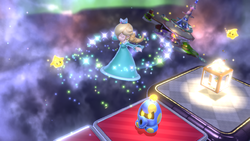 Rosalina as a playable character performing a Spin Attack.