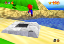 Mario finding the castle's Cannon