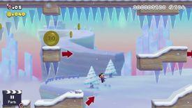 The Super Mario Maker 2 Story Mode level Freezing Rain.