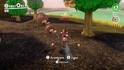 Goomba Woods, found in the Mushroom Kingdom in Super Mario Odyssey.