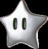 Artwork of a Silver Star from Super Mario Galaxy 2