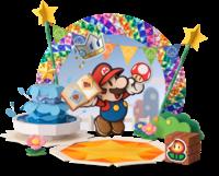Artwork of Mario and Kersti from Paper Mario: Sticker Star