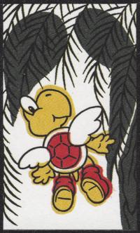 Second card of November in the Club Nintendo Hanafuda deck.