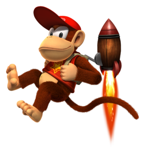 Diddy Kong with his jet pack