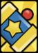 A Huge KO Hammer Card in Paper Mario: Color Splash.