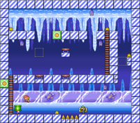 Level 4-7 map in the game Mario & Wario.