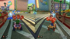 Balloon Battle mode in Super Mario Kart and Mario Kart 8
